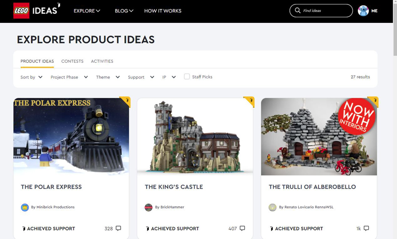 LEGO Ideas Update: Check Out the Current 10K Qualifiers for the First 2021 LEGO Ideas Review Stage