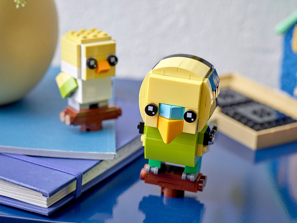 LEGO BrickHeadz Pets Goldfish and Budgie Arriving in March