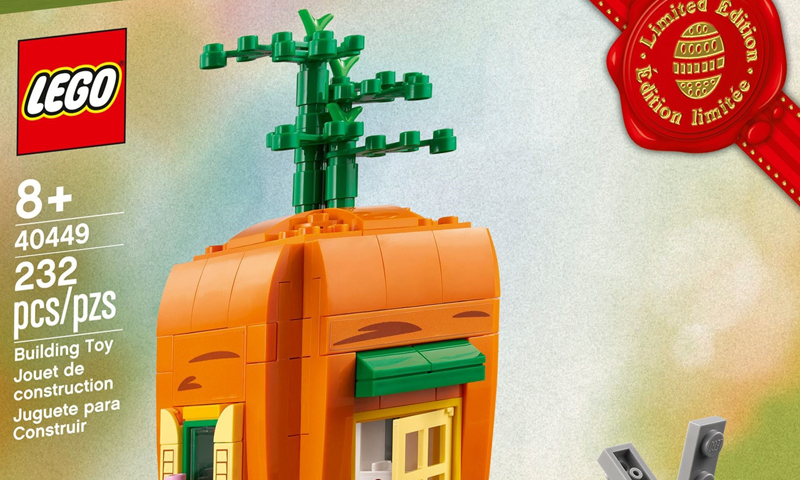 LOOK: LEGO Easter Bunny's Carrot House (40449) Official Images