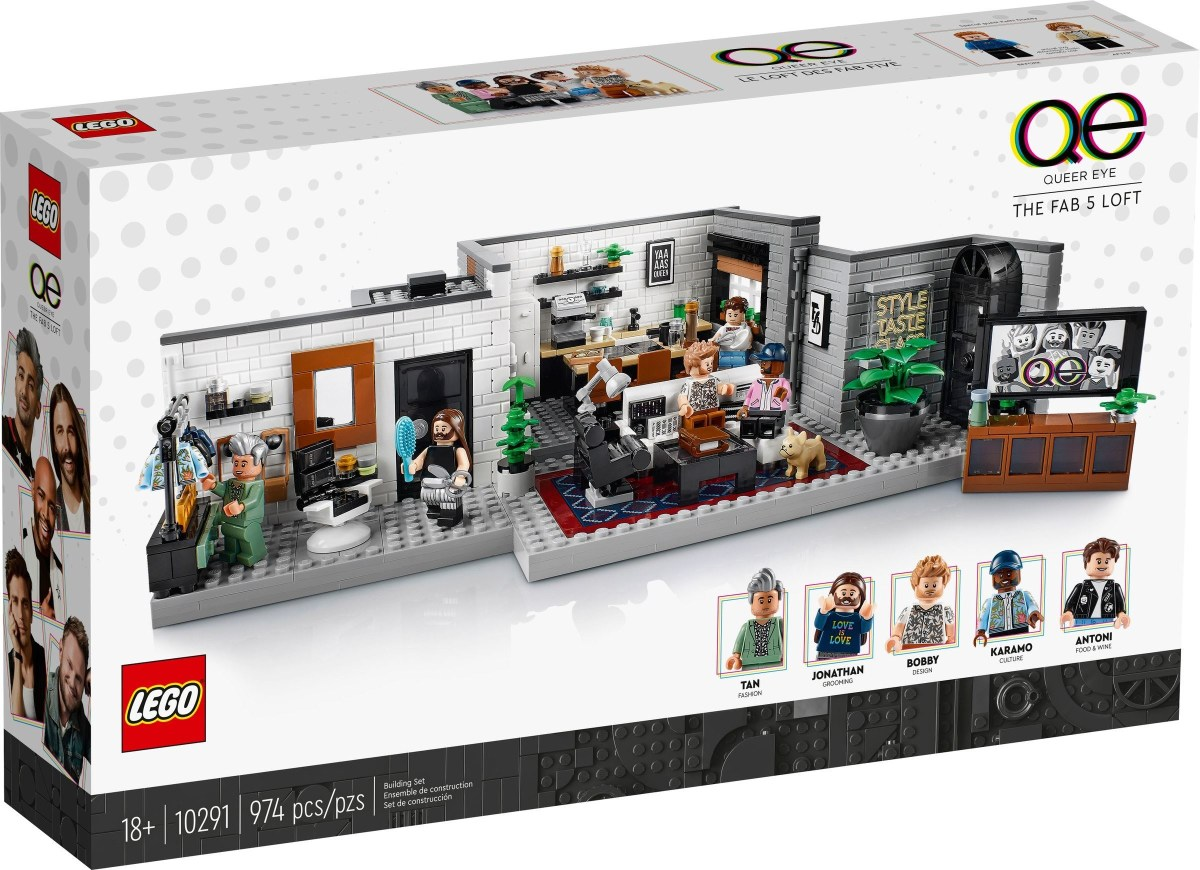 LEGO Puts Up Official Designer Video for Queer Eye – Fab 5 Loft (10291)…Or Part of It