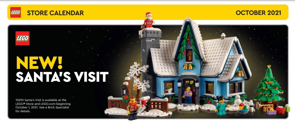 LEGO Store Calendar for October 2021 is Out