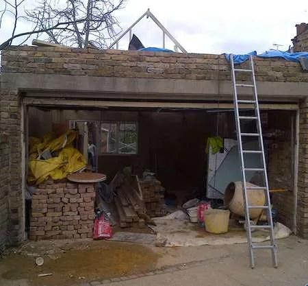 Upward Garage Extension