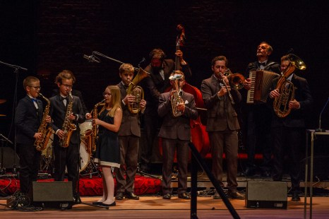 Perfromance by the Klezmer Band, part of laureate Borderland's Cultural Centre at last night's ceremony