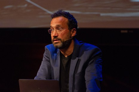 Eyal Weizman, Director of laureate Forensic Architecture, accepts the ECF Princess Margriet Award for Culture