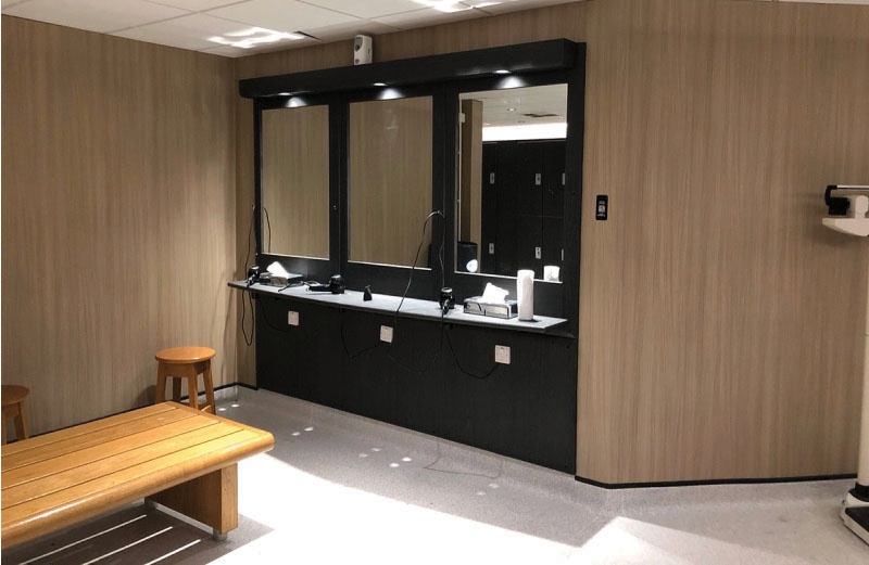 As part of their social responsibility programme, Bannatyne Health Clubs, has looked at ways at how they could refurbish lockers, counter tops, bars, washroom walls and doors instead of simply scrapping them and sending to landfill. Benif Interior Film from David Clouting provided the perfect solution.