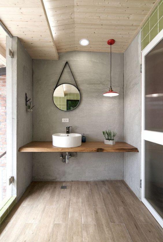 14 idées de meuble lavabo flottant pour une salle de bain ... on Remodel:ll6Wzx8Nqba= Small Kitchen Ideas  id=56630