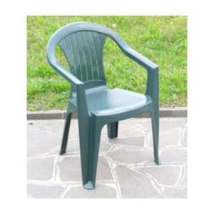 sedia in resina colore verde