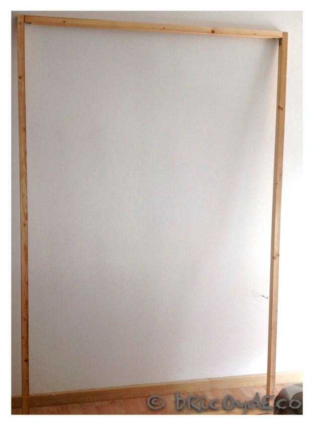 C mo hacer un panel de madera para poner la televisi n - Mueble ocultar tv ...