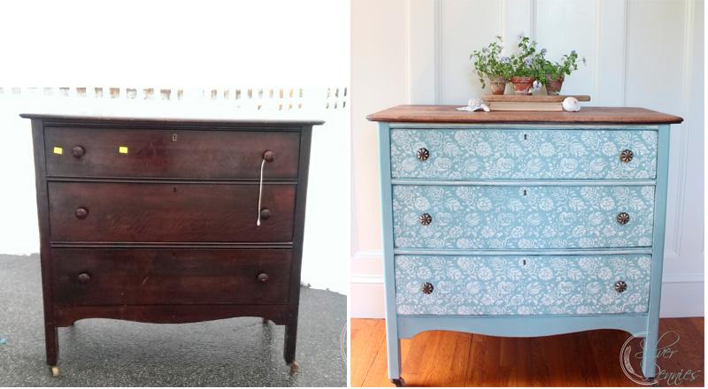 Renovar una cómoda con pintura y stencil
