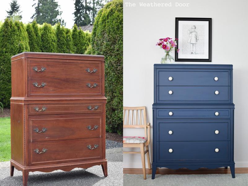 pintar los muebles de azul