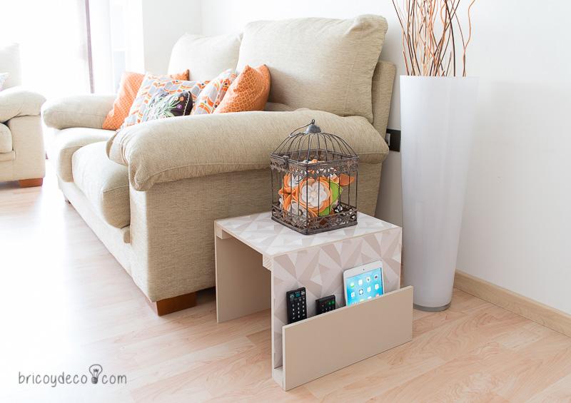 cómo hacer una mesa para sofá DIY paso a paso