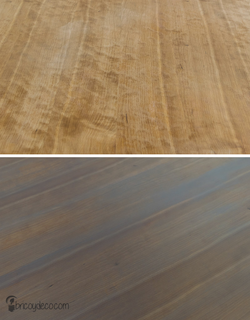 antes y después de renovar la madera con lasur