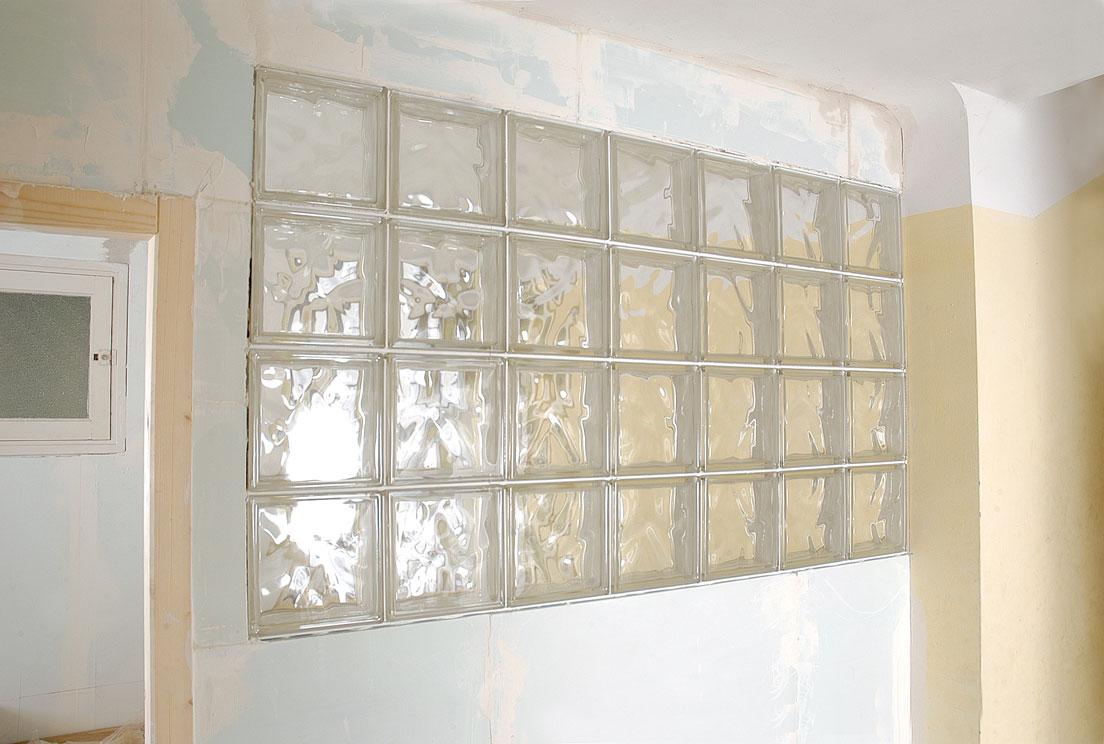 cloison en briques de verre bricolage