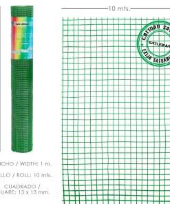 Malla Electrosoldada Plastificada Corral 13x13 / Altura 100 cm. / Rollo 10metros