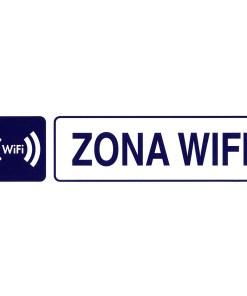 Rotulo Adhesivo 250x63 mm. Zona Wifi