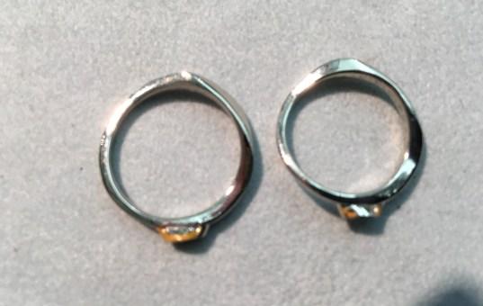 """ご自身がデザイン、完成に導いた """"世界でたった 一つの 結婚指輪"""" ですね"""