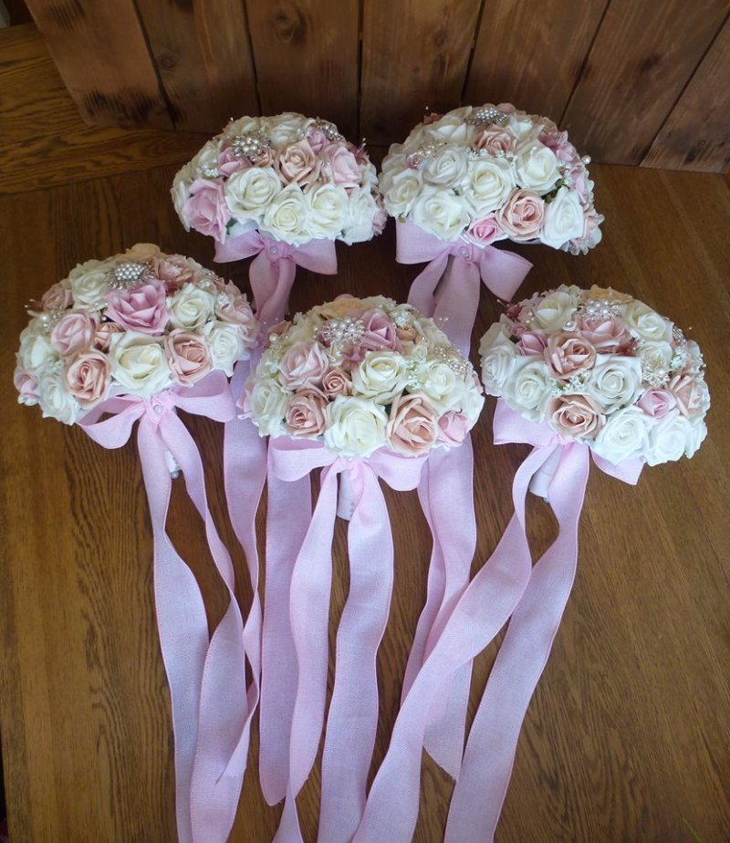 Pink Ribbon Wedding Flowers