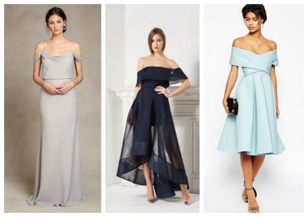 off shoulder bridesmaid dresses