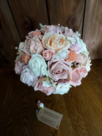 Fake flower wedding bouquet