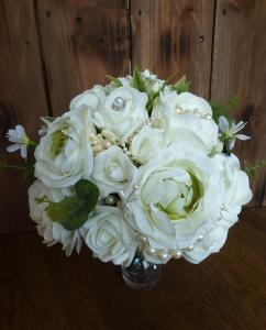 country Ivory peony bouquet