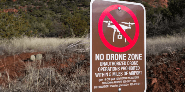 No drone flying