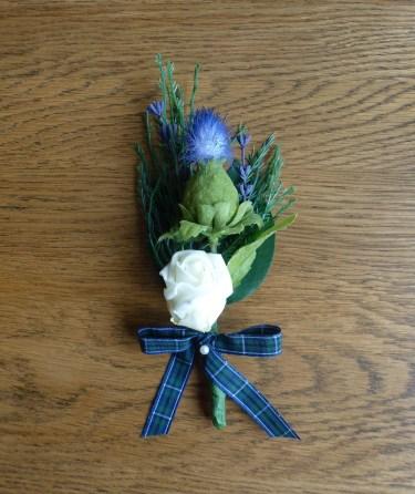 tartan thistle buttonhole