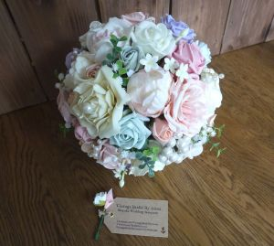 Silk rose and peony bouquets