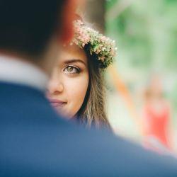 Wedding smile flower head band