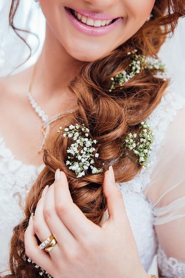 gypsophila hair wedding