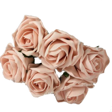Foam Artificial Flower Vintage Peach