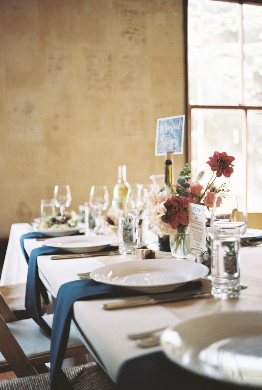 meal wedding place setting