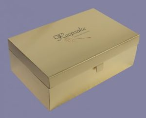 Wedding Dress Box in Gold