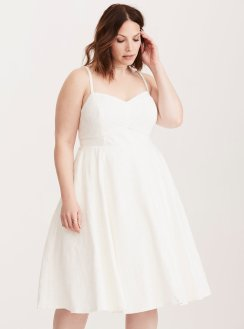 Torrid.com, $74.90, Style: Lace Piping Tank Skater Dress