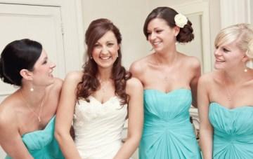bridesmaids in tiffany blue