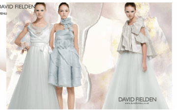 Bored of White Wedding Dresses? David Fielden is.