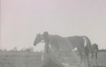 A Bride & a Horse Rock the Dress on Super 8mm Film! {First Kiss Films}