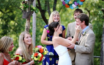 Groom Gets Uncontrollable Giggles During Vows! {Fun & Frolics}