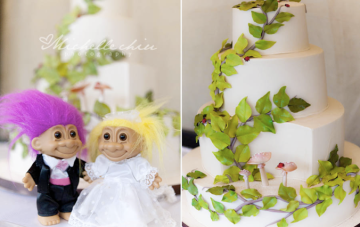 rustic fun wedding cake | Michelle Chiu Photography