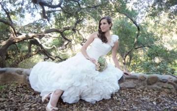 Rustic Oak, Stone Walls, Smokey Grey & Peach Bridal Shoot