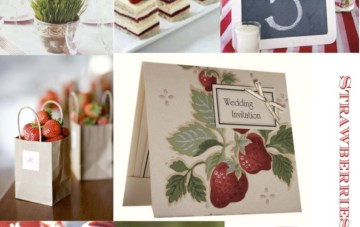 Strawberries & Cream Wedding Inspiration by Lovely Favours