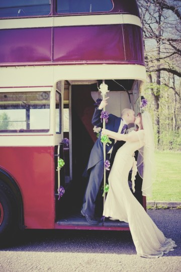 bride and groom retro bus | sarah janes photography