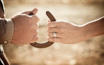 Horse Shoes & Cowboy Hats: A Ranch Engagement Shoot