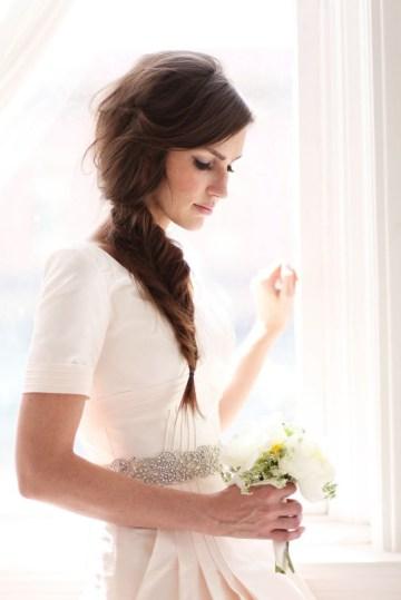 bride fishtail plait | jessica janae photography