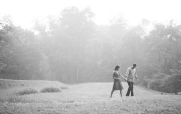 A Beautiful, Misty, Woodland Engagement