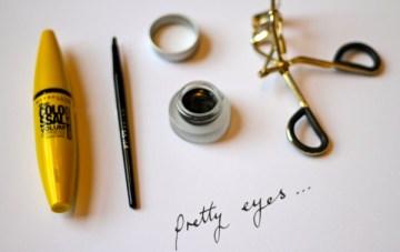 Beauty School: Maybelline Eyeliner Gel + Mascara = Pretty Eyes