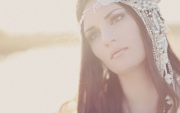 Grecian Bridal Shoot Featuring A Stunning Handmade Headpiece & Bouquet