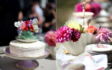 tea party wedding decor | jaime delaine photography