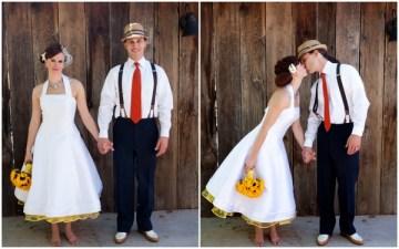 retro style wedding dress yellow petticoat | melissa dunstan photography