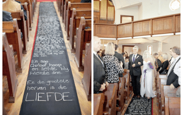 DIY Aisle Runner: Messages Of Love
