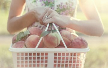 Peaches, Green & Nectarine Wedding Inspiration